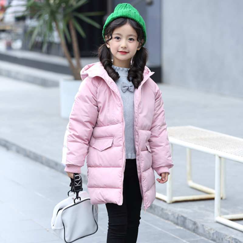 Children's Winter Cotton Warm Jacket Cotton-padded Jacket Cotton-padded Clothes Winter Jacket Park for A Girl Lively Winter Coat girl winter coat 2017 flannel lining larger hooded warm padded cotton kids jacket suitable for extremely cold weather
