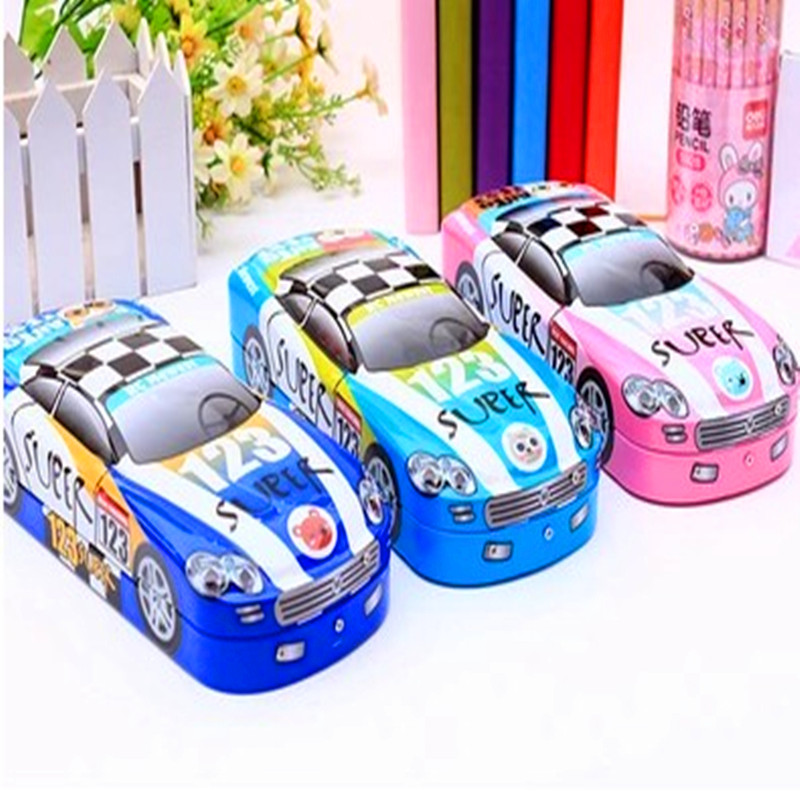 Car style three layers bookshelf iron stationery box iron pencil box high quality Pencil Case Cartoon Pencil Bag Large Capacity 2 3 4 layers high quality large capacity canvas pencil case drawing pens pencil bag portable pencil box school penalties 04856