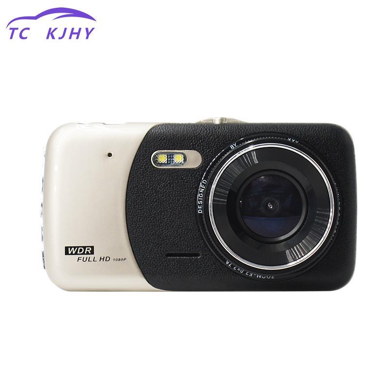 Full Hd 1080 p 4 pouces Auto Dash Cam enregistreur vidéo double lentille voiture Dvr caméra caméscope avec Led Vision nocturne caméra de recul