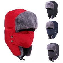5918412cac Russo Cappelli invernali e con pelliccia Delle Donne Degli Uomini di Inverno  Antivento Da Sci Del Cappello Con Paraorecchie E Ma.