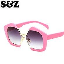 Лето New Солнцезащитные Очки Женщины Luxury Brand Muticolor Пластиковая Рамка Полигон Оправы Линзы Vintage Женская Cat Eye Glasses