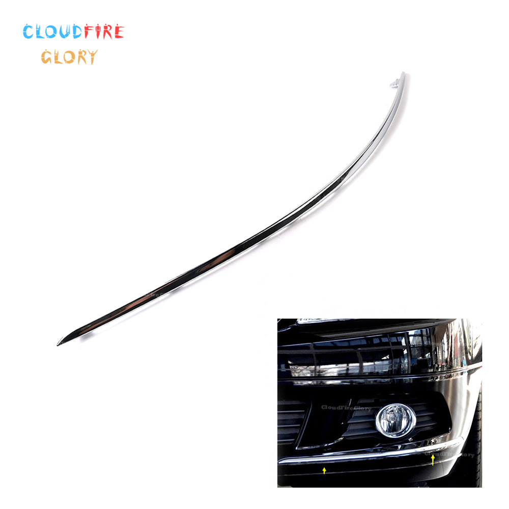 CloudFireGlory 2048850721 Avantgarde Front Bumper Chrome Trim Molding Left For <font><b>Mercedes</b></font>-Benz W204 <font><b>C300</b></font> C350 2007 2008 2010 2011 image