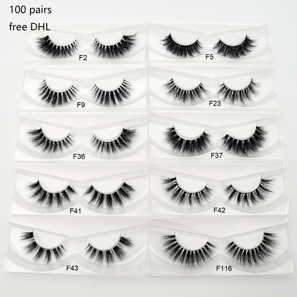 Wholesale Free DHL 100pairs Eyelashes Transparent Band Lashes Handmade Mink Eyelashes Invisible Band Eye Lashes Makeup