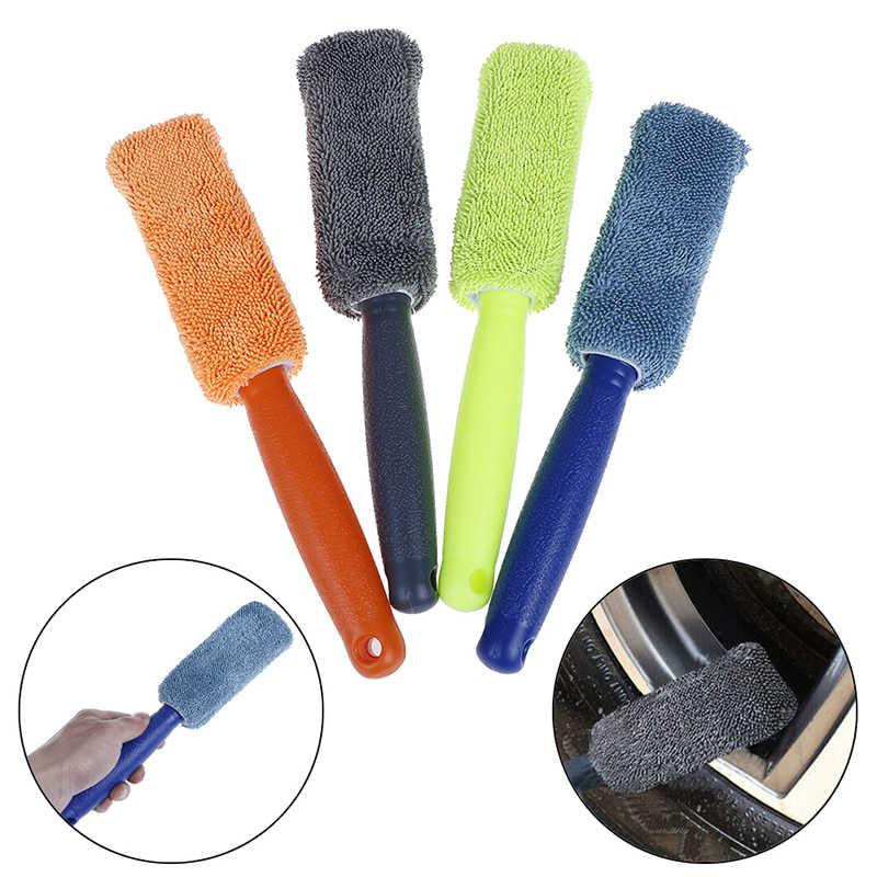 1Pc motocykl motor opona samochodowa silnika narzędzie do mycia szczegółowo do czyszczenia z mikrofibry koło i obręcz szczotka do bagażnik samochodowy