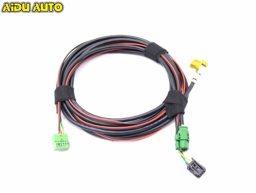For Golf 7 MK7 Passat B8 MQB Tiguan CarPlay MDI USB AMI Install Plug Socket Harness lane assist lane keeping system wire cable harness for vw golf 7 mk7 passat b8 mqb cars