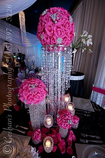 Buy crystal wedding chandelier flower for Buy wedding centerpieces