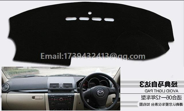 For Mazda 3 2006 2007 2008 2009 2010 Dashmats Car Styling Accessories  Dashboard Cover RHD