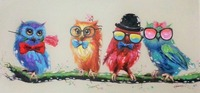 Decorative Canvas Oil Painting Canvas Beautiful Cute Night Owl Wall Art Modern Animal Art Picture Home
