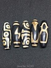 Fengshui Piedra Dzi Beads 10mm * 30mm Tibet Misterioso Grano de Dzi 9 ojos de Piedra semipreciosa de Envío gratis