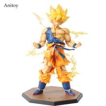 Venta al por menor Al Por Mayor de Dragon Ball Z goku Super Saiyan Goku Hijo Boxed Acción PVC Figure Model Collection Juguete de Regalo