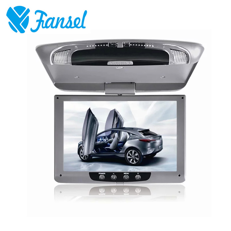 Fansel 9 Inch 800x480 Car Roof Mount LCD Color Monitor Flip Down Screen Overhead Multimedia Video Ceiling Display In Monitors From