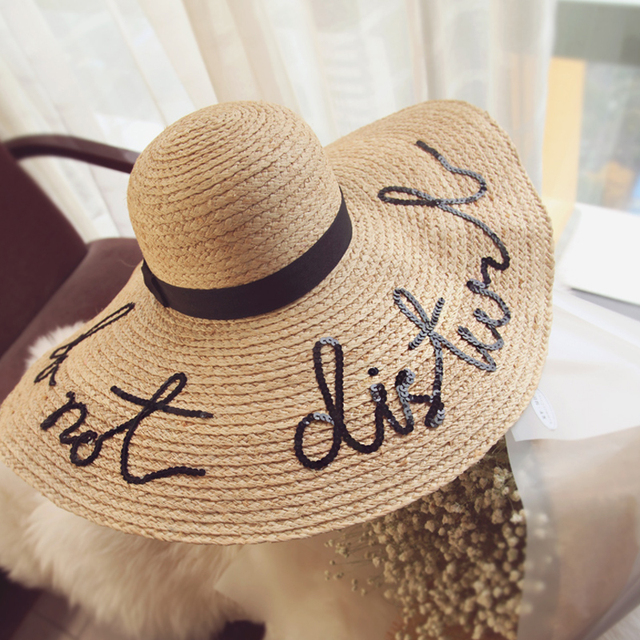 Hot Style was aboard large straw hat adult women girls sun hat fashion uv protect big bow summer beach hat holiday