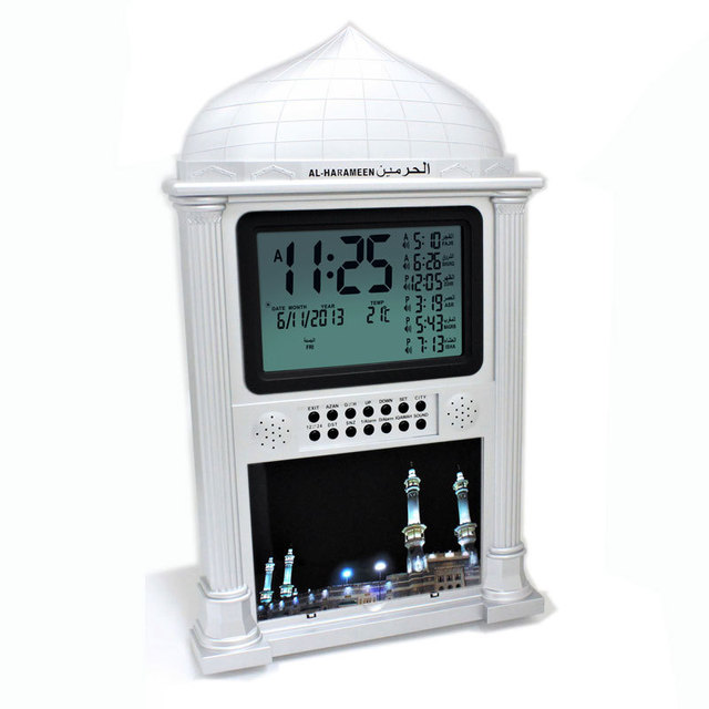 Muslim azan prayer clock  all prayers Full Azans 1150 cities Super Azan clock