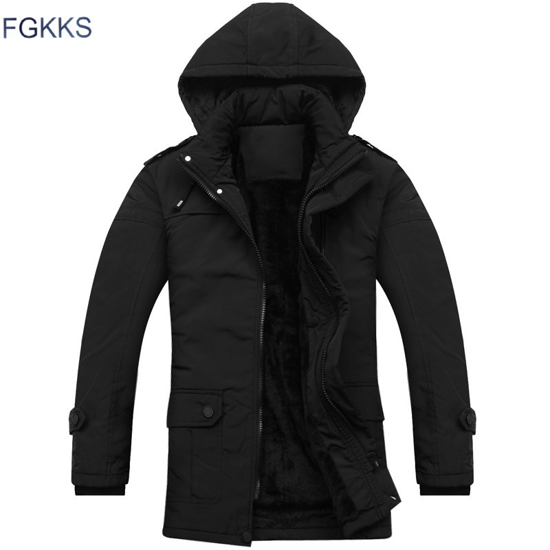 FGKKS 2017 New Arrival Parka Brand Clothing Winter Men Bio Cotton Winter Warm Regular Formal Jackets
