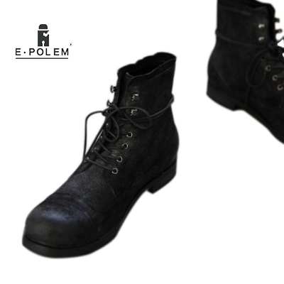 2018 Classic American Paratroopers Boots For Men Black Retro Do Old High-heeled Shoes Autumn Winter Warm Boots жакет vassa
