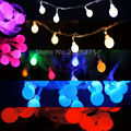Battery Operated LED String Lights with ball 10 20 30 80 Leds for Xmas Garland Party Wedding Decor Christmas Flash Fairy Lights