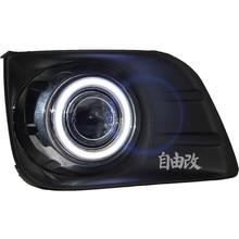 Eosuns УДАРА Ангел глаз светодиодные дневного света DRL + halo туман + объектив проектора для 2010-12 Toyota PRADO 2700/4000/lc/FJ150
