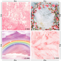 Pink Flower Floral backdrops cloud background photography backdrops photo studio props newborn close up food pets drops ZH 14