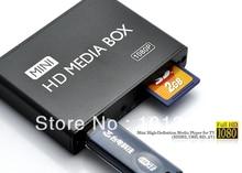 Full HD 1080 P Медиа-Плеер, Цифровой Плеер Вывесок, Adverting player box, HDMI, выход AV, SD/MMC Card reader/USB Host Бесплатная доставка!