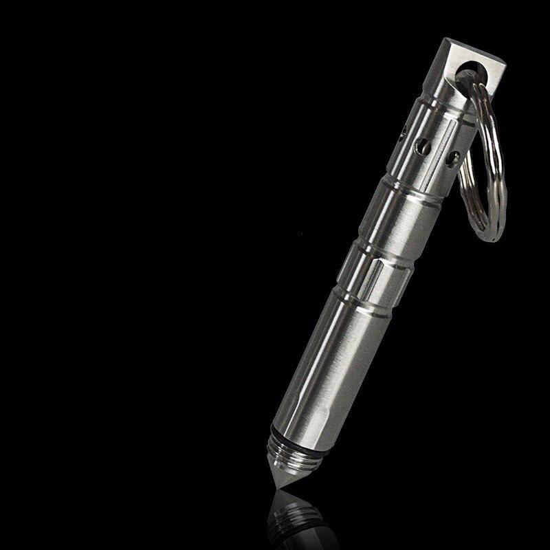Hollow Style Self-defense Pen Tactical Pen Defense Mini Stainless Steel Key Pen EDC