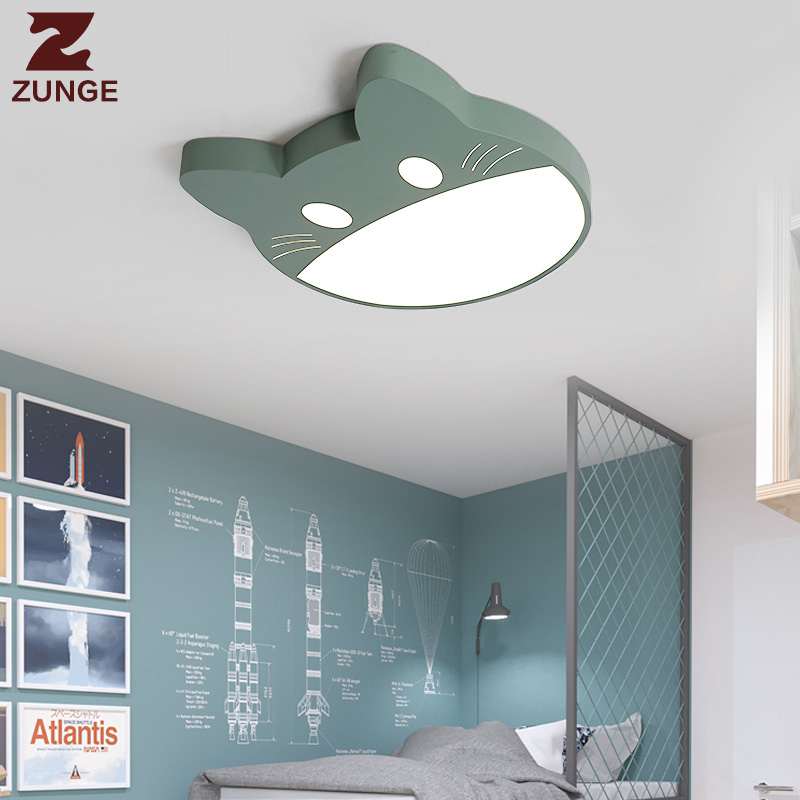 ZUNGE children ceiling lamp LED bedroom lamp modern simple personality lighting P519 boys and girls cartoon creative room lights