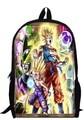 17inch dragon ball backpack double layer custom made children anime dragon ball Z Resurrection 'F' Cartoon boy men bags
