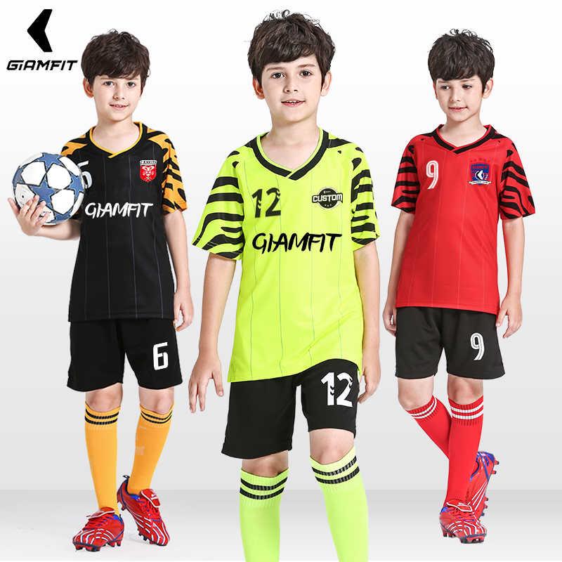 947ffb275ef Conjunto de camisetas de fútbol para niños 2019 Francia Maillot de fútbol  equipo de entrenamiento uniforme