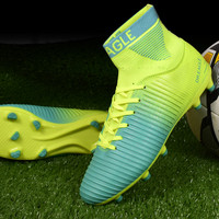 Football Shoes For Sale 38 45 Mens Soccer Boots Football Green Sock Football Shoes Original Mens Football Shoes Sport Sneakers