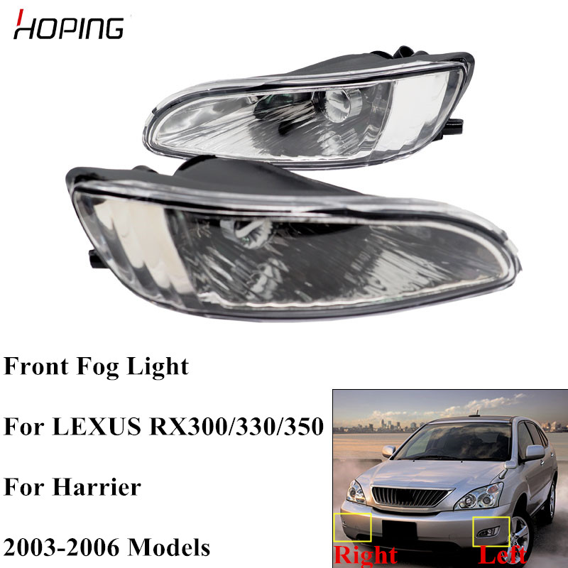 Hoping Front Bumper Fog Light Fog Lights For <font><b>LEXUS</b></font> <font><b>RX300</b></font> RX330 RX350 2003 2004 2005 2006 Harrier Replacement Fog <font><b>Lamp</b></font> With Bulb image