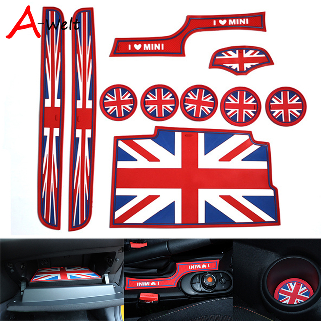 10 pcs/ensemble Silicone rouge union jack de voiture tasse porte ...