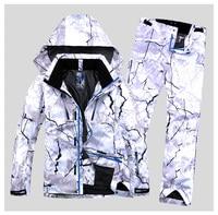 Новый стиль Для мужчин лыжный костюм супер теплая одежда Лыжный Спорт сноуборд куртка + Брюки для девочек костюм комплект ветрозащитный Вод