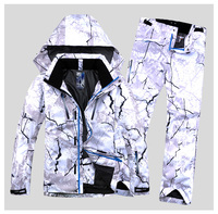 Новый стиль мужской лыжный костюм супер теплая одежда катание на лыжах сноуборд куртка + брюки костюм комплект ветрозащитная водостойкая з