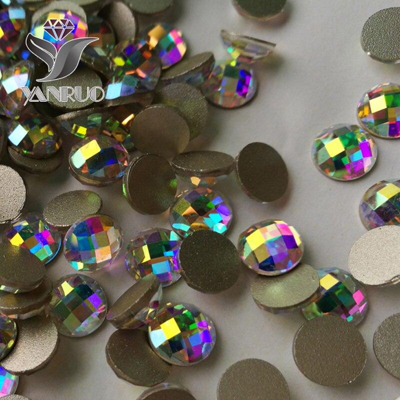 YANRUO 72 piezas 6 mm, 8 mm ORIGINAL Crystal Elements AB Chessboard - Arte de uñas - foto 2