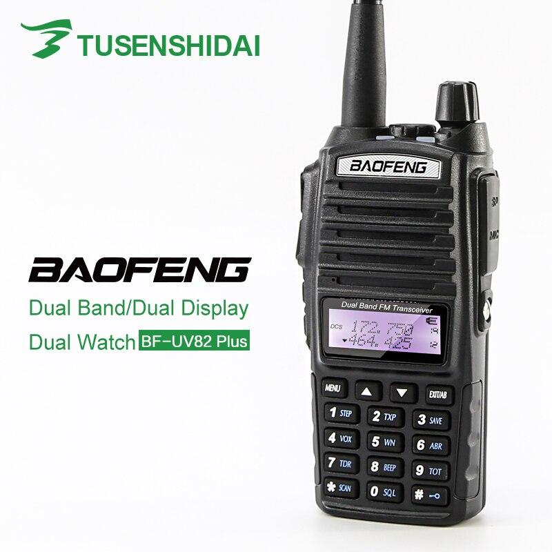 Baofeng UV-82plus 8W Max Walkie Talkie Portabel Radio Interphone Ham Radio Dual PTT Hand Amatörradio
