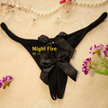 Free shipping Crown genuine NightFire night fire black bow open files T pants sexy sexy lingerie Ding pants 1100
