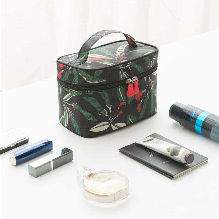 Neweekend women Cosmetic Bag Flower Makeup Square Storage Box Make Up Organiser Container waterproof Toiletry Travel Bag