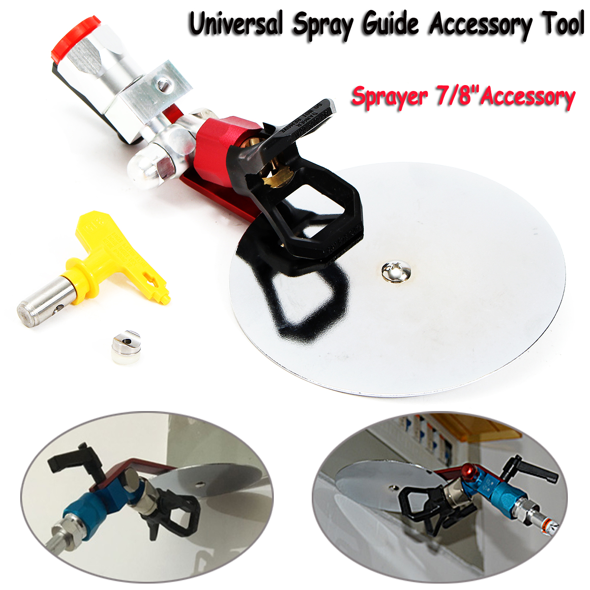 25cm x 6cm Universal Spray Guide Tool for 7/8 Inch Nozzle Paint Sprayer Pneumatic Power Tool Parts Airless Spray Tip Hardware hyvst spray paint parts manifold for spt900 270 dt9027015