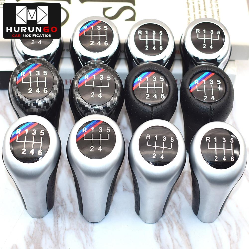 5 6 Speed Real Leather Gear Shift Knob For BMW 1 3 5 6 Series E30 E32 E34 E36