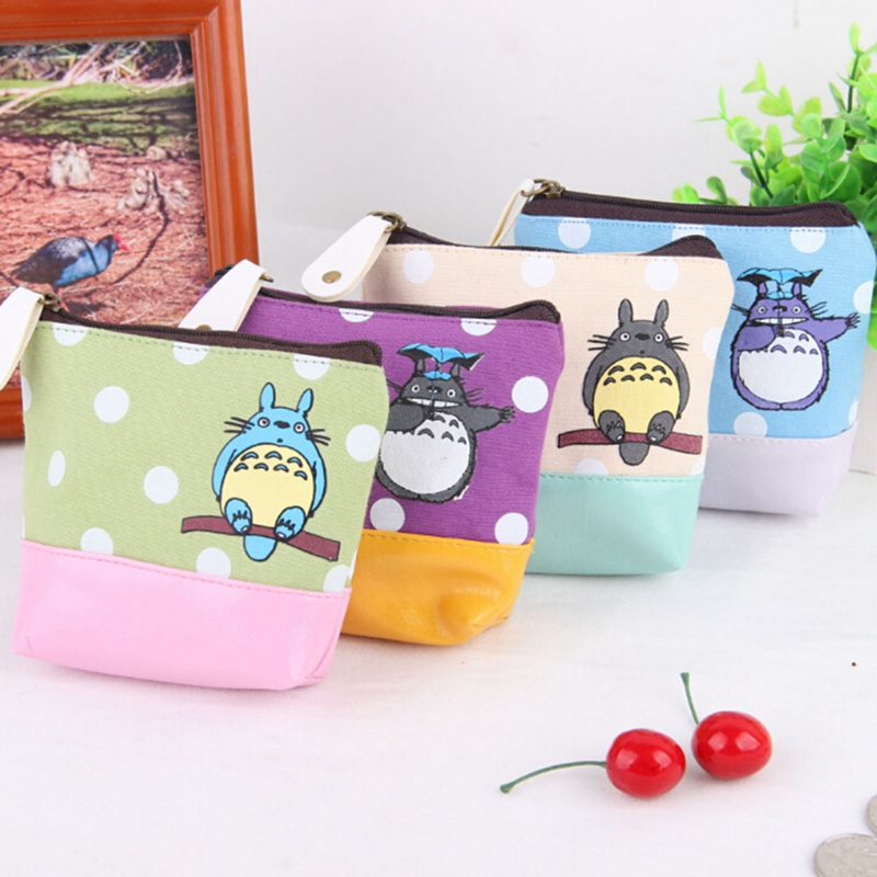 1 Pcs Coin Purses Lovely Cartoon Canvas Coin Purse Child Girl Wallet Women Change Purse Lady Wallets Coin Bag