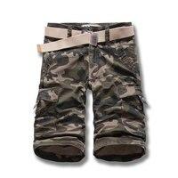 Mens Camuflagem Carga Capri curto Exército Cor Verde Ocasional Cropped Shorts new design Summer Fashion Solto Fit Tamanho 28-38