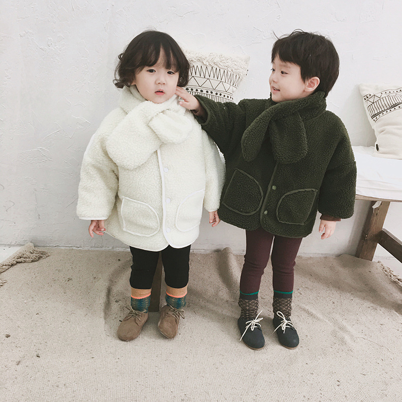 Mother & Kids Child 2018 Girls New Trend Korean Winter Leisure Simple Childrens Down Cotton Padded Cotton Girls Outwear