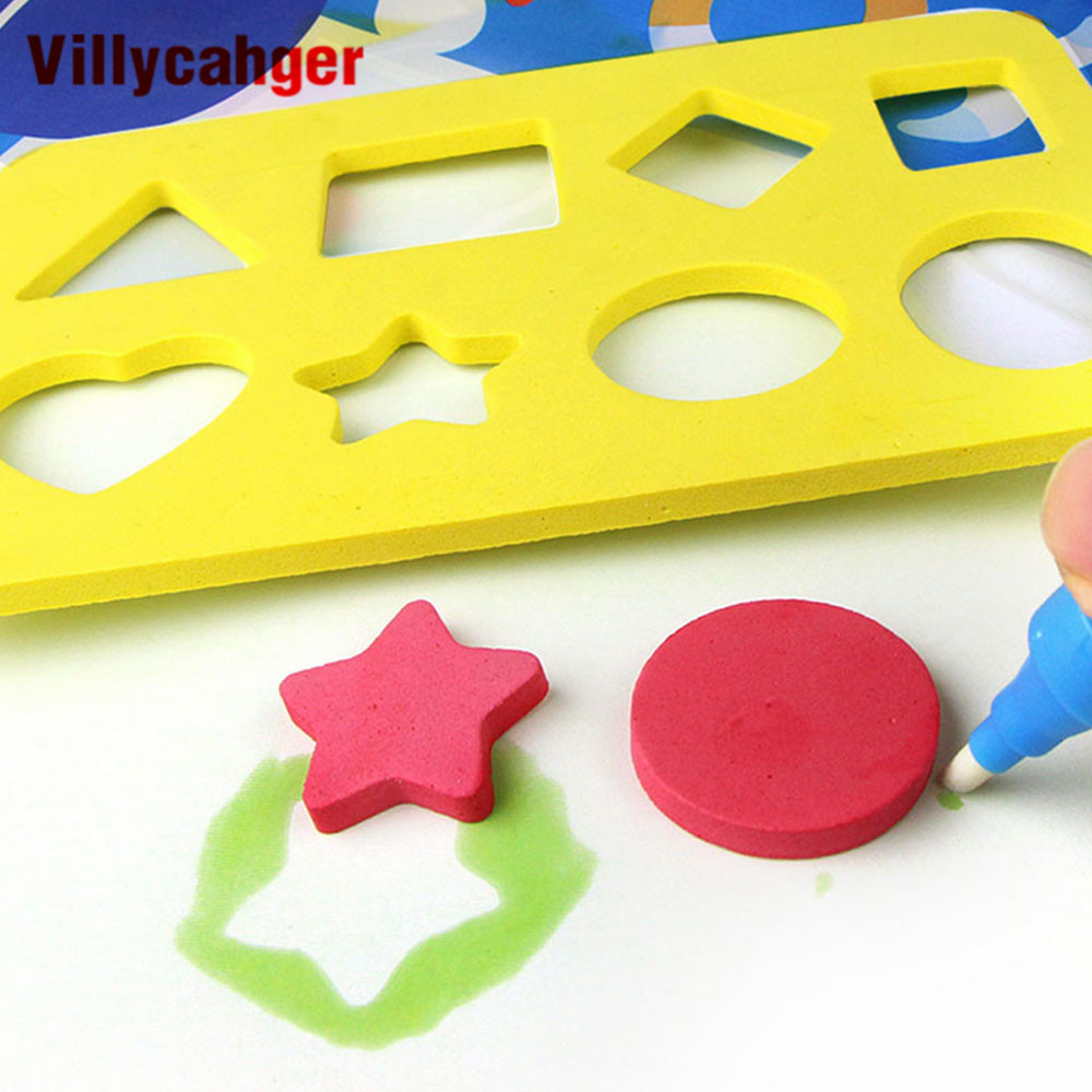 Kid Magic Water Drawing Tool Drawing Templates Doodle Magic Stamps Water Drawing Painting Boards Ruler Doodle Tool Accessories
