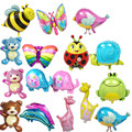 20 type mini  bear giraffe balloon Elephant butterfly balloons aluminum dolphin balloons 40*30 cm birthday party balloon