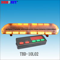 TBD 10L02 LED Emergency Warning Lightbar,engineering/rescue/truck/police/vehicle,super bright Amber Roof strobe warning lightbar