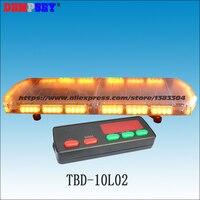 TBD-10L02 led 비상 경고 라이트 바  엔지니어링/구조/트럭/경찰/차량  슈퍼 밝은 앰버 지붕 스트로브 경고 라이트 바