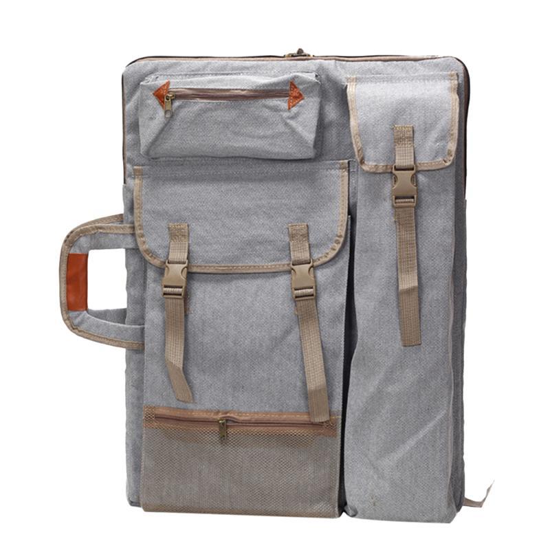 1 pc arte cartera mochila portátil bolso para hombres tablero de dibujo bolso hombro bolsa con correas de bolsas mochila De Lado