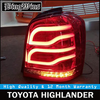 Car Tail Lights For Toyota Highlander Kluger 2001 2007 LED Strip Tail Light Rear Lamp With