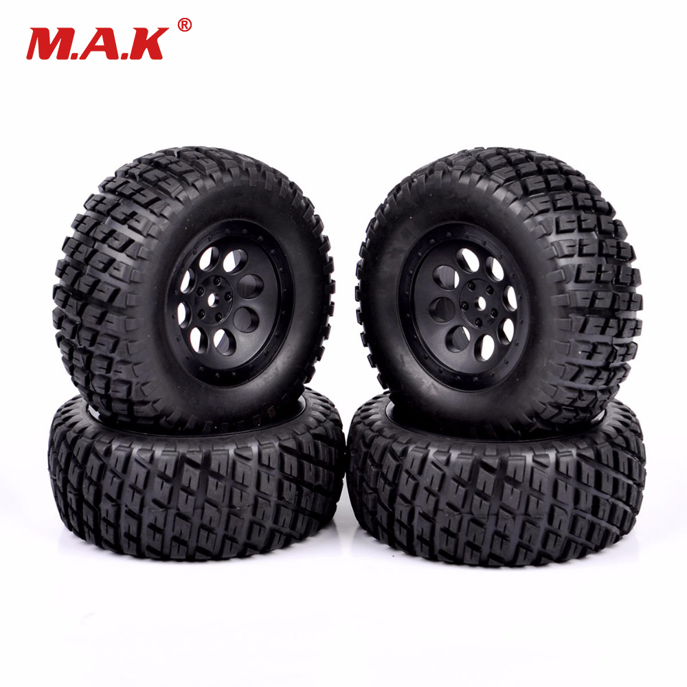 12mm Hex 1/10 Short Course Truck Tires for RC TRAXXAS SLASH HPI Wheels Tires Accessories 1 10 hq727 v2 traxxas slash short course truck parts number m0220 chassis