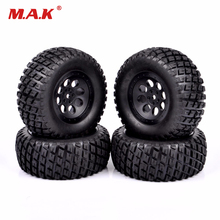 12mm Hex 1/10 Short Course Truck Tires for RC TRAXXAS SLASH HPI Wheels Tires Accessories 4pcs set rc parts 12mm hex bead loc short course ruber tire rims for hpi hsp rc 1 10 traxxas slash