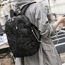 Backpack Mens Shoulder Bag Casual Large Capacity Travel Fashion Trend Korean High School Junior Student Men